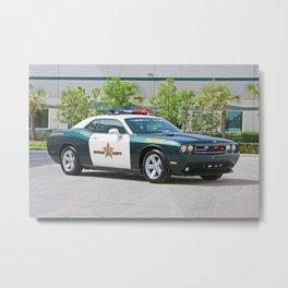 Broward Country Florida Challenger Police Highway Patrol color photograph / photography Metal Print