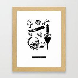 Tattoo Flash Black #01 Framed Art Print