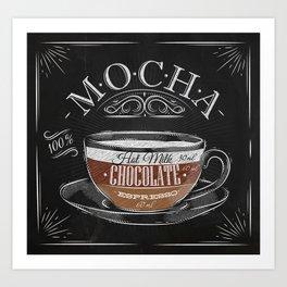 Coffee mocha chalk Art Print