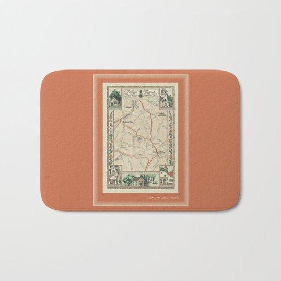 Bedford Village New York Map Print Bath Mat