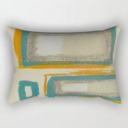 Soft And Bold Rothko Inspired - Modern Art - Teal Blue Orange Beige Rectangular Pillow
