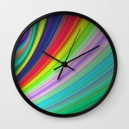 Rainbow Speed Wall Clock