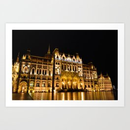 Parliament building in Budapest, capital of Hungary. Art Print