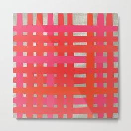 Loom - Red + Magenta Metal Print