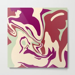 Acrylic Flow #2207 - MellowDramatic Metal Print