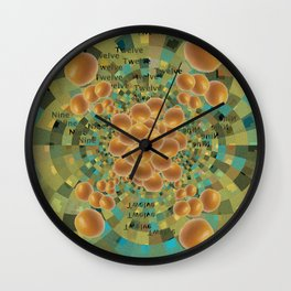 An Orange Clock of Work Pun, 2.0 Wall Clock