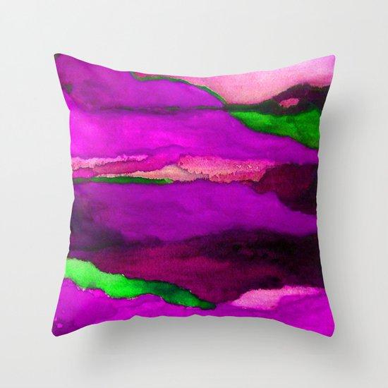 a dark february redux3 Throw Pillow
