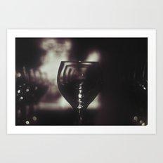 Wineglass Art Print