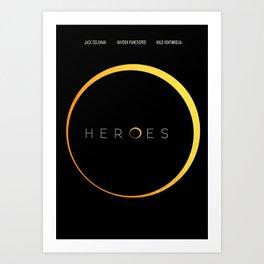 HEROES - MINIMAL Art Print