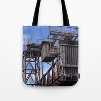 industrial Tote Bags featuring Industrial by sharon clues
