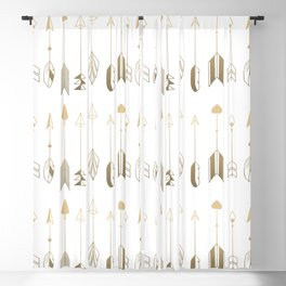 Be Brave Little Arrow (gold) Blackout Curtain