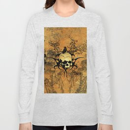 Awesome skul and crow Long Sleeve T-shirt