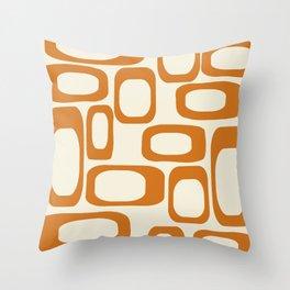 Mid Century Modern Shapes 1970s Orange #society6 #buyart  Throw Pillow
