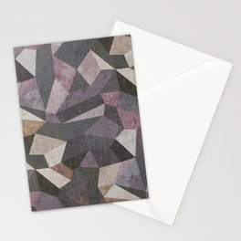 Low Poly Geometric Background Stationery Cards
