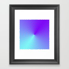 Coiled in Blue and Pink Framed Art Print