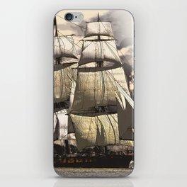 sailing ship vintage iPhone Skin