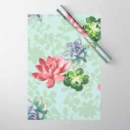 Spring Succulents Wrapping Paper