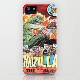 Godzilla vs The Nazis iPhone Case