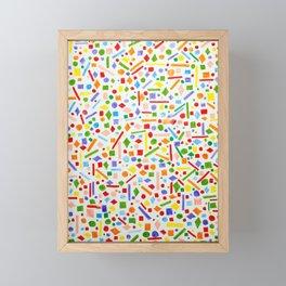 Retro Shapes Framed Mini Art Print