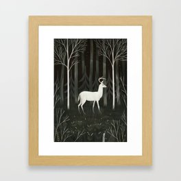 White deer Framed Art Print