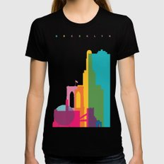 Shapes of Brooklyn. Accurate to scale SMALL Black Womens Fitted Tee