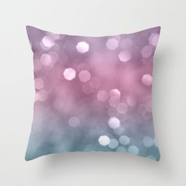Unicorn Colored Bokeh #1 #pastel #shiny #decor #art Throw Pillow