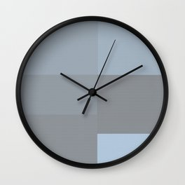 Blue and Gray Squares Wall Clock
