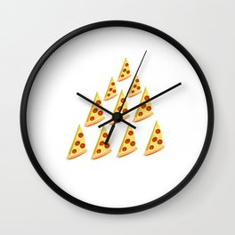 This Is My Food Pyramid Awesome Italian Cuisine Foodies Gift Wall Clock