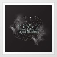 the fault in our stars Art Prints featuring THE FAULT IN OUR STARS by Danielle Ebro