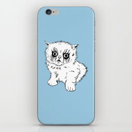 Black Metal Kitty iPhone Skin