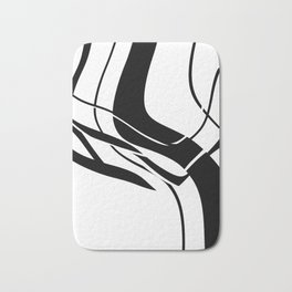 Organic No. 7 Black & White Graphic Art #minimalism #decor #society6 Bath Mat