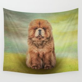 Drawing dog chow chow Wall Tapestry