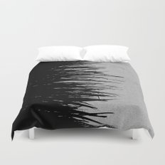 Concrete Fringe Black on Side Duvet Cover