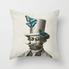 Doctor Popinjay (Color Option) Throw Pillow