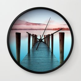 Ashness Pier Over Lake Windermere Derwentwater England Ultra HD Wall Clock