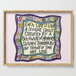 Quilt Quote II Serving Tray