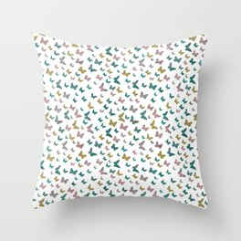 butterflies_pink Throw Pillow