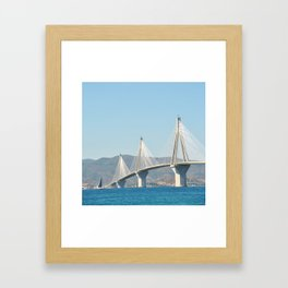 Rio Antirrio Bridge Framed Art Print