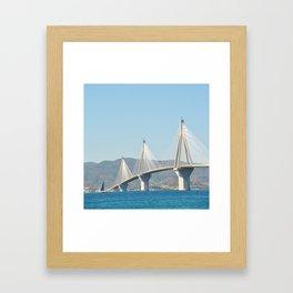 Rio Antirrio Bridge Framed Art Print