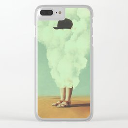 Magritte's Bowler Hat Clear iPhone Case