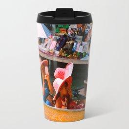 Thailand Floating Market Travel Mug