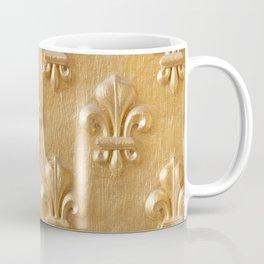 Golden Fleur de lys wood wall Coffee Mug