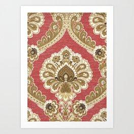 Distressed Frame - Red Art Print