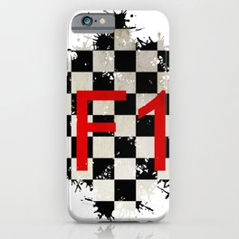 The Chequered Splatter iPhone Case