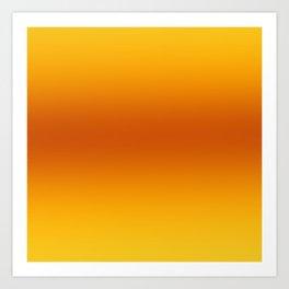 Yellow-Orange-Yellow Ombre Art Print