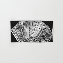 Money - Black And White Hand & Bath Towel