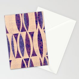 Seventies violet Pattern Stationery Cards