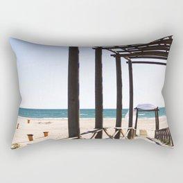 Between Cadiz and San Fernando, Andalusia Spain 2 Rectangular Pillow