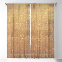 In Fields of Gold, Landscape Wildflowers Sheer Curtain