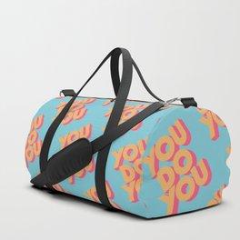 You Do You Retro Blue Duffle Bag